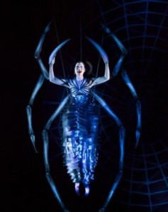 "Natalie Mendoza, as Arachne in the musical ""Spider-man: Turn Off the Dark,"" at the Foxwoods Theater in New York."