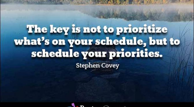 Monday Musing: Priorities